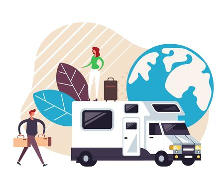 Time to travel concept. Vector graphic design flat cartoon illustration Ilustração