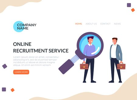 Recruitment head hunting human resources concept. Vector flat cartoon graphic design illustration