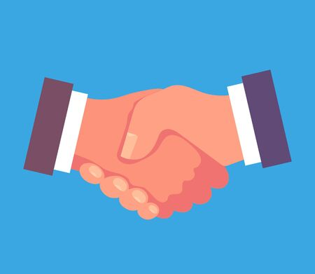 Business deal agreement handshake icon concept. Vector graphic design isolated illustration