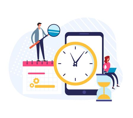 Planner schedule calendar time timetable concept. Vector flat graphic design illustration