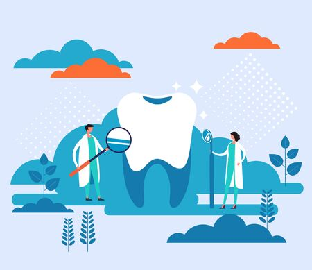 Dentist doctor office banner poster concept. Vector flat graphic design cartoon illustration