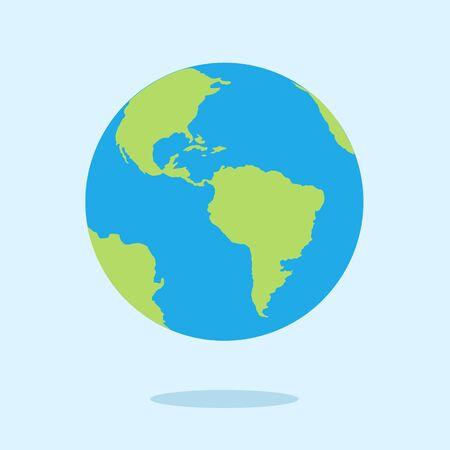 Planet Earth concept. Vector flat cartoon graphic design illustration