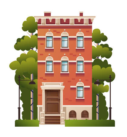 Isolated house home concept. Vector flat graphic design illustration