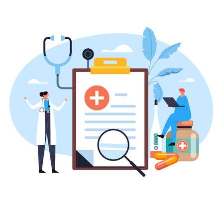 Medicine healthcare pharmaceutical hospital pharmacy infographic concept. Vector flat graphic design illustration