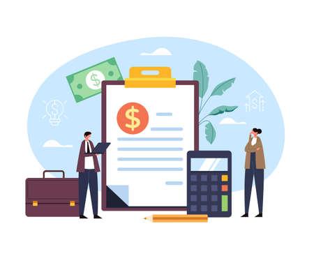 Business consulting money investment concept. Vector flat graphic design illustration Ilustração