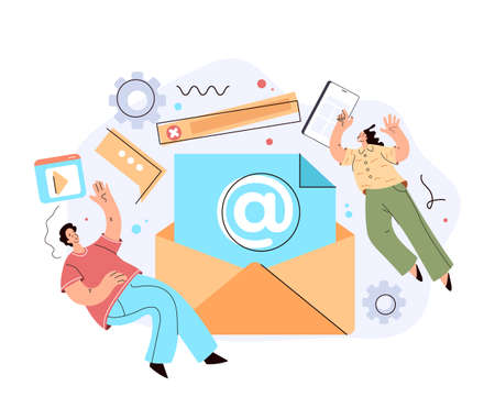 Email envelope marketing chatting support internet online communication letter concept.