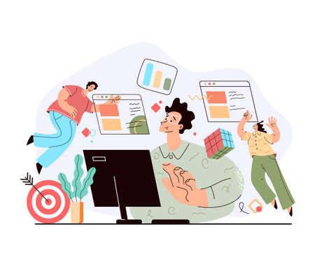 Business brainstorming partnership teamwork concept.