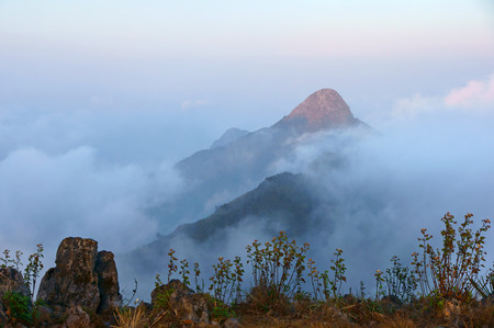 dao: This is the viewpoint of Doi Luang Chiang Dao. This is location in Thailand. Stock Photo