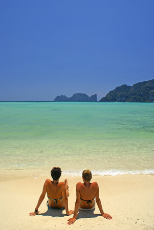 This is a beach on Pi Pi Island in thailand. Stock Photo