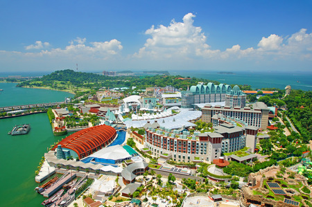 singapore city: This is a view of Sentosa island in Singapore. Stock Photo