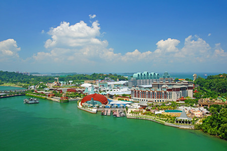 clouds sky: This is a view of Sentosa island in Singapore. Stock Photo