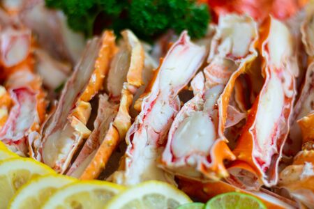 Alaskan king crab fishing is carried out during the fall months in the waters off the coast of Alaska and the Aleutian Islands.
