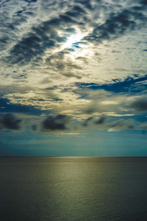 ocean water: perfect sky and water of ocean Stock Photo