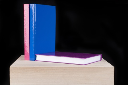 three colorful  books perfect for cutout photo
