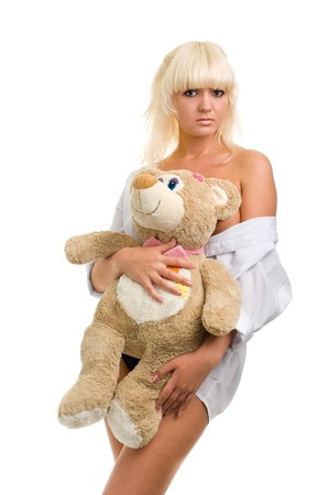 Sexy woman with toys photo