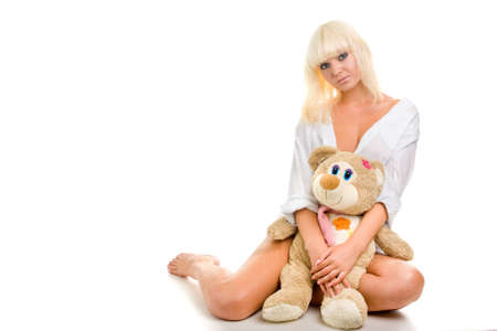 Sexy woman with toy photo