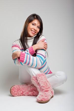 Beautiful young woman studio portrait Stock Photo - 7199887