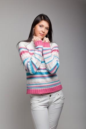 beautiful woman shot in studio photo