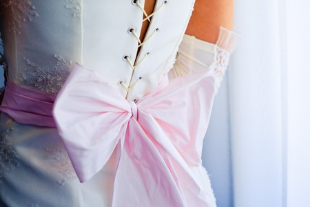 marriageable: Image of back of bride in wedding dress