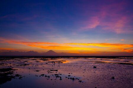 Tropical sunset on the beach. Lombok island. Indonesia Archivio Fotografico