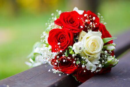 close-up van de huwelijks boeket  Stockfoto