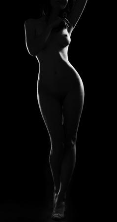 erotic pose of woman nude Stock Photo
