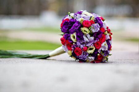close up of wedding bouquet  photo