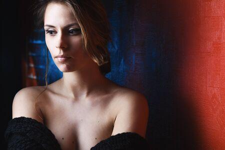 Fashion photo of young sensual woman photo
