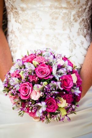bridal bouquet: close up of wedding bouquet