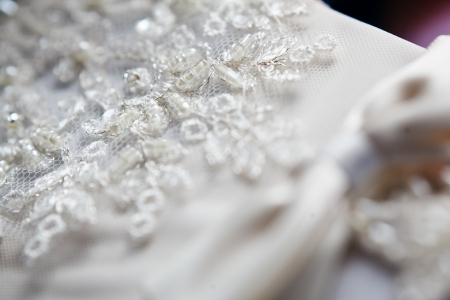 customary: wedding glovers  Stock Photo