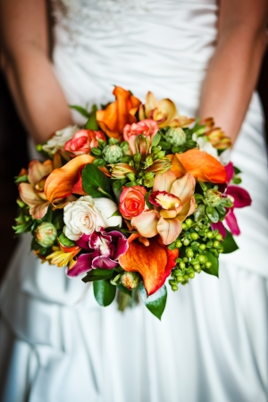 close up of wedding bouquet photo