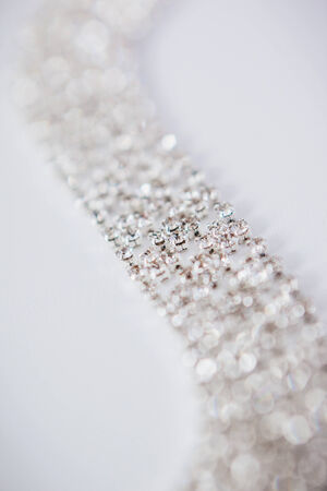 adornment: wedding Beautiful adornment on white Stock Photo