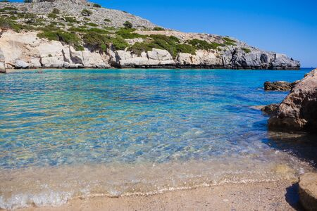 Summertime at the beach. Greece. Rhodes.