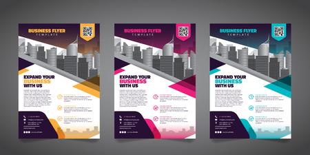 Business Brochure Flyer Design Layout Template - Vector Eps10. Vektoros illusztráció
