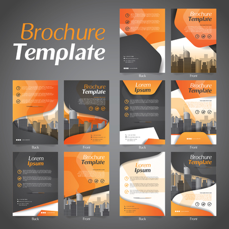Set of Business Brochure Flyer Design Layout Template - Vector Eps10.