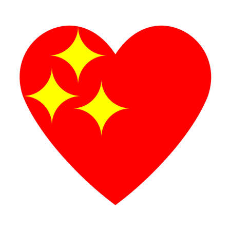 heart with shine icon vector on white background. Logo element illustration. Love symbol icon