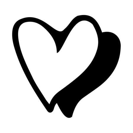 doodle heart symbol sketch illustrations. love symbol doodle icon .design element isolated on white background