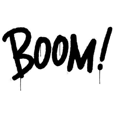 graffiti boom word sprayed isolated on white background. vector illustration.