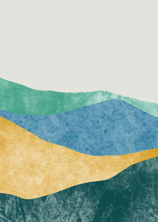 Abstract mountain landscape, Minimalist design. Abstract water color. vector background illustration. Vektorové ilustrace