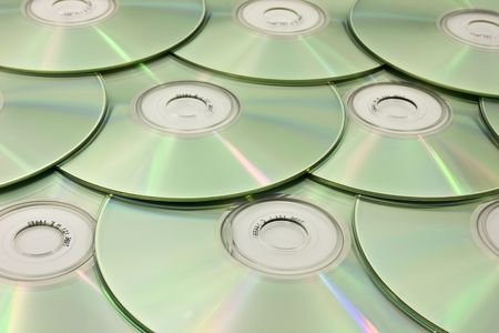 Optical discs laid out in an attractive pattern Stock Photo