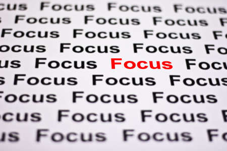 Focused on Focus highlighted in red