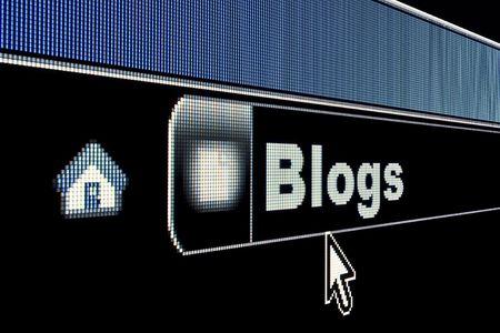 インターネット ブラウザーの URL アドレスのブログ コンセプト