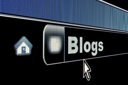 Blogs concept on an internet browser URL address