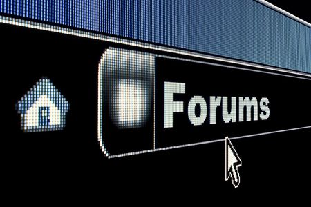 http: Forums concept on an internet browser URL address Stock Photo