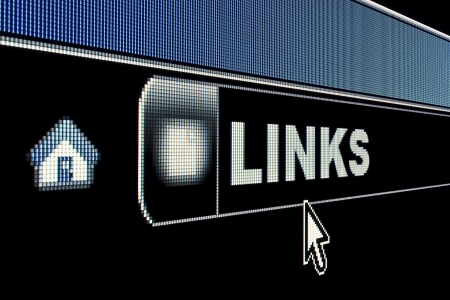 Web links concept on an internet browser URL address