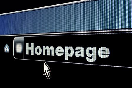 Homepage concept on an internet browser URL address Stock Photo - 4920287