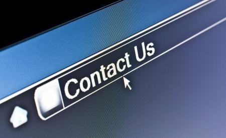 お問い合わせは web ページのインターネット ブラウザーの概念