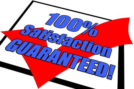 100% Satisfaction Guaranteed concept isolated on white Stock Photo - 4928871