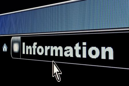 Information concept on an internet browser URL address Stock Photo - 4928899