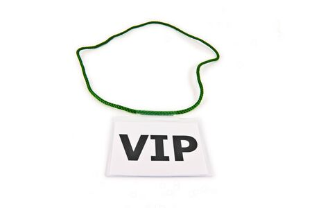 neckband: Very Important Person (VIP) Pass isolated on white
